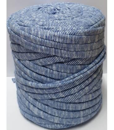 Bobina trapillo 13cm estampado Rayas Azul y Blancas