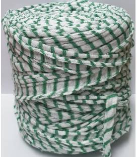 Bobina trapillo 13cm Blanco Raya Verde