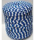 Bobina trapillo 13cm estampado Rayas Azul electrico-Blanco