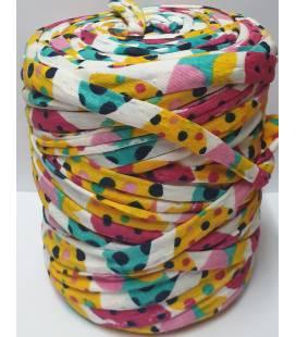 Bobina trapillo 13cm estampado Colores y Puntos
